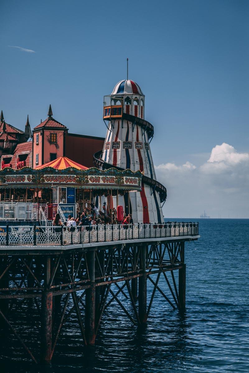 Scorcio di panorama inglese a Brighton